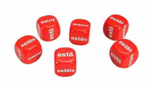 Set of 6 Spanish Estar Dice