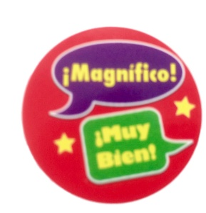 Magnifico speech bubble sticker