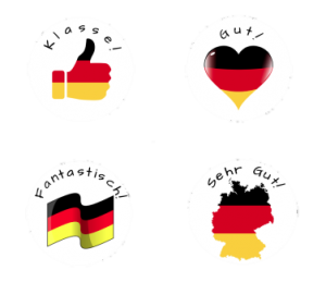 German Flags Sticker