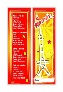 French bookmark Verbs