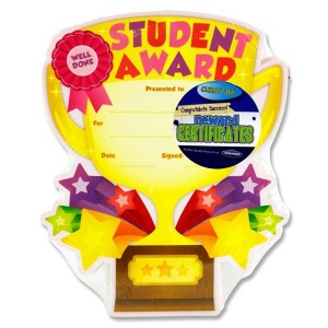 Student award certificate