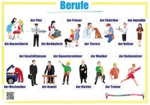 German jobs wall chart / Berufe