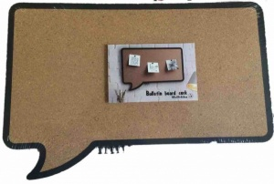 Speech bubble cork bulletin board rectangle