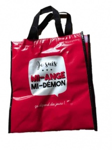 Je suis mi-ange mi-démon lunch/cooler bag