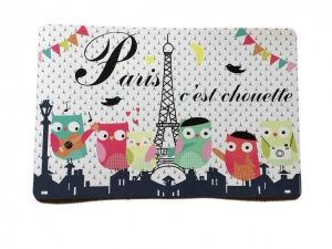 Paris c'est chouette plastic poster/ table mat