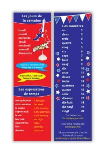 French Days & Numbers Bookmark