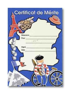 French Map Award Certificate