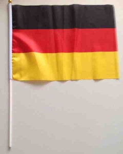 German flag on pole
