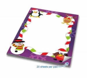 Xmas notepad purple border