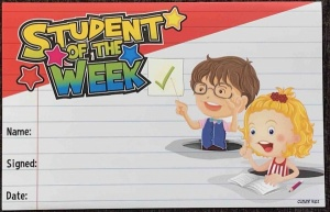 Student of the week reward certificate