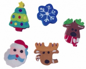 Set of Christmas erasers